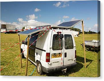 A Van With Solar Panels Attached Canvas Print by Ashley Cooper