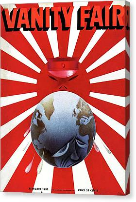 A Vanity Fair Cover Depicting The Rise Of Japan Canvas Print by Paolo Garretto