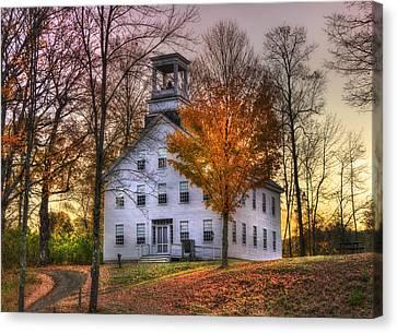 A Vermont Autumn - Woodstock Canvas Print by Joann Vitali