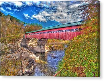 A Vermont Covered Bridge Taftsville Covered Bridge Canvas Print