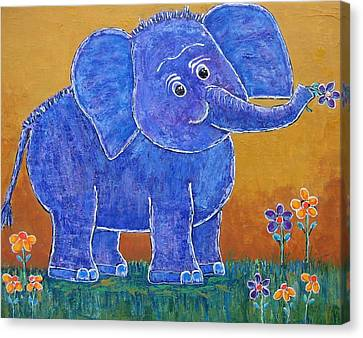 A Very Happy Day Canvas Print by Suzanne Theis