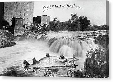A Very Large Fish Indeed Canvas Print by Underwood Archives