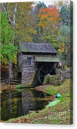 Grist Mill Canvas Print - A Very Old Grist Mill by Paul Ward