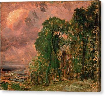 Stormy Weather Canvas Print - A View At Hampstead With Stormy Weather Hampstead by Litz Collection