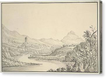 A View Canvas Print by British Library