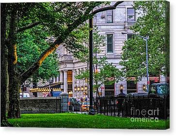 A View From Central Park Canvas Print by Mary Carol Story