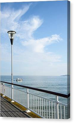 a View from Pier Canvas Print by Svetlana Sewell