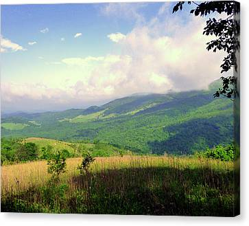 Canvas Print featuring the photograph A View From Smith Mt. by Jim Whalen