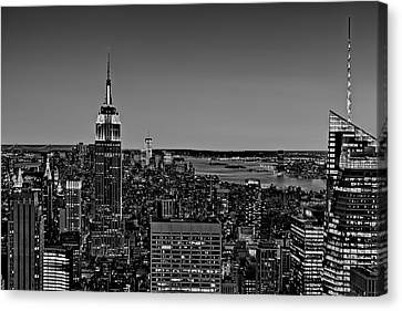 United States Of America Canvas Print - A View From The Top Bw by Susan Candelario