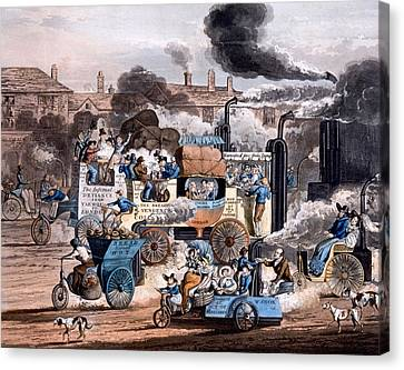 A View In White Chapel Road 1830 Canvas Print