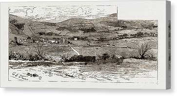 A View Near Castleisland, Showing The Scenes Of The Outrages Canvas Print by Litz Collection