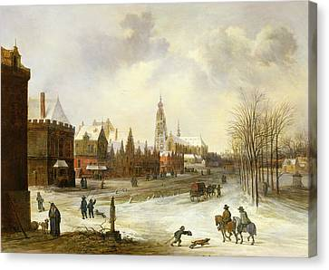 A View Of Breda Canvas Print by Frans de Momper