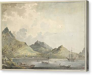Canoe Canvas Print - A View Of Fare Harbour by British Library