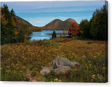 A View Of Jordan Pond Canvas Print by Darylann Leonard Photography