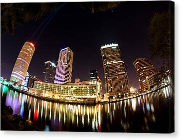 A View Of Tampa And The Hillsborough River Canvas Print