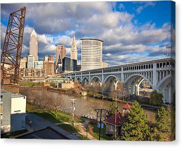 Canvas Print featuring the photograph A View Of The City by Brent Durken