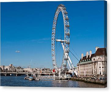 A View Of The London Eye Canvas Print