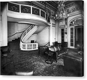 A View Of The Lounge Room At The New Home Of The National Democr Canvas Print by Underwood Archives