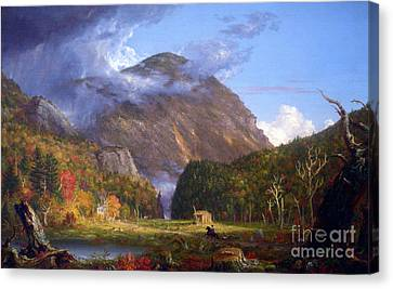 A View Of The Mountain Pass Called The Notch Of The White Mountans By Thomas Cole Canvas Print