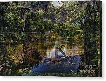 A View Of The Nature Center Merged Image Canvas Print by Thomas Woolworth