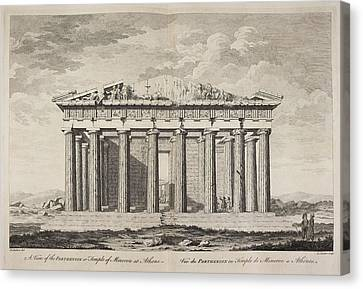 A View Of The Parthenion Canvas Print by British Library