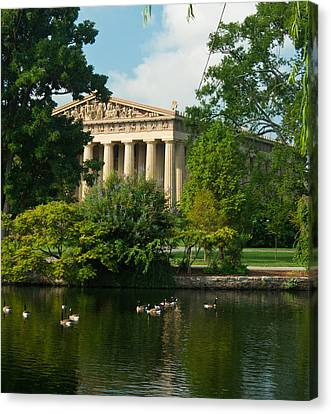 A View Of The Parthenon 17 Canvas Print by Douglas Barnett