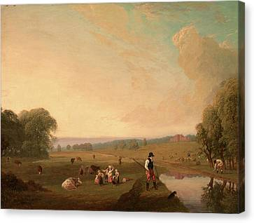 A View Of Theobalds Park, Hertfordshire Canvas Print by Litz Collection