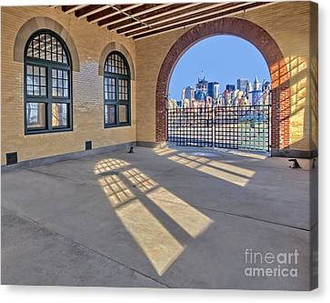 A View To Nyc Canvas Print by Susan Candelario
