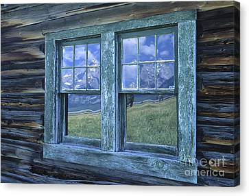 A View To The Tetons Canvas Print by Sandra Bronstein