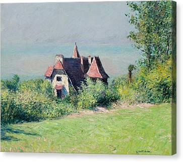 Villa Canvas Print - A Villa At Trouville by Gustave Caillebotte
