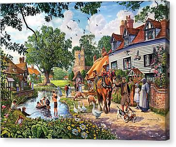 Crisp Canvas Print - A Village In Summer by Steve Crisp