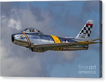 A Vintage F-86 Sabre Of The Warbird Canvas Print by Rob Edgcumbe
