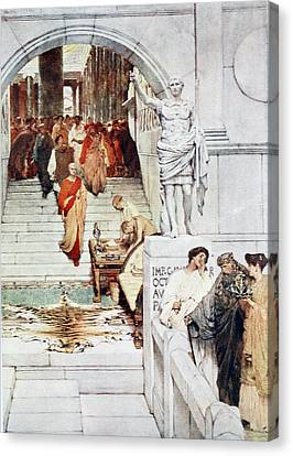 A Visit Of Agrippa To Augustus Canvas Print by Sir Lawrence Alma-Tadema