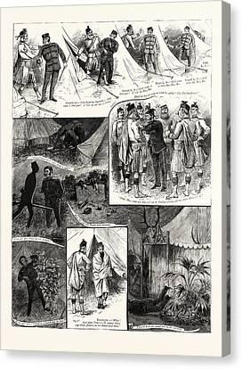 A Visit To The London Scottish Camp At Wimbledon Canvas Print