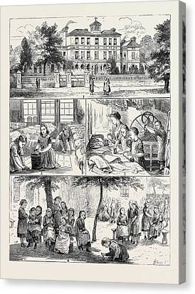 A Visit To The National Orphan Home, Ham Common Canvas Print