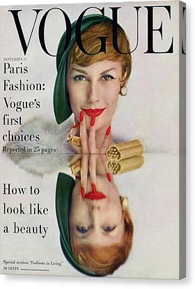 Mary Canvas Print - A Vogue Cover Of Mary Jane Russell by John Rawlings