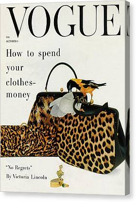 A Vogue Cover Of Nettie Rosenstein Handbags Canvas Print by Richard Rutledge