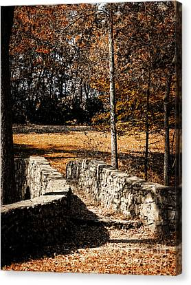 A Walk Along The Old Stone Path Canvas Print by Lincoln Rogers