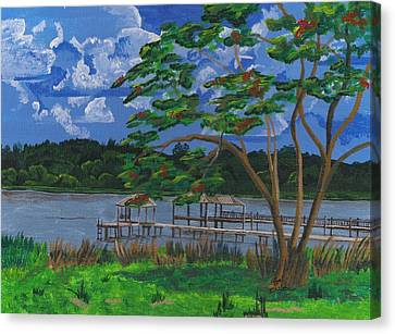 A Walk By Lake Clay Canvas Print