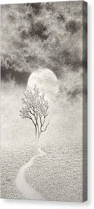 A Walk In The Moonlight Canvas Print by Mark  Reep
