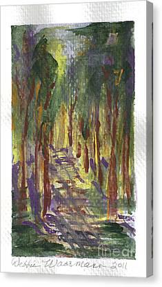 A Walk In The Park Canvas Print by Debbie Wassmann