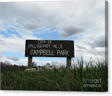 Canvas Print featuring the photograph A Walk In The Park  by Michael Krek