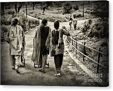 Friends Forever Canvas Print - A Walk In The Park by Paul Ward
