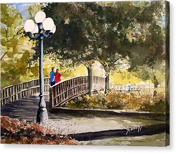 A Walk In The Park Canvas Print by Sam Sidders