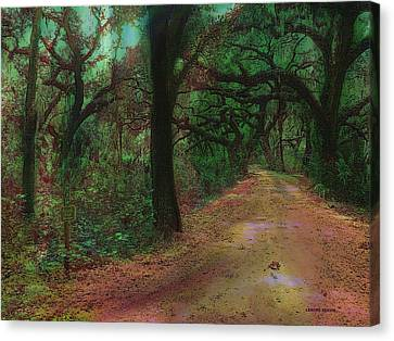 Nature Scene Canvas Print - A Walk In The Woods by Lenore Senior and Sharon Burger