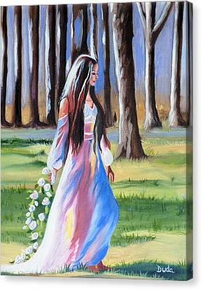 A Walk In The Woods Canvas Print by Susan Duda