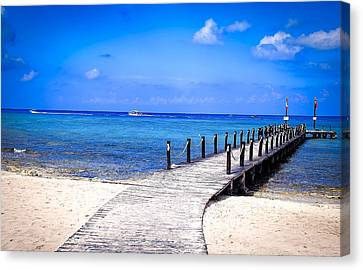 Canvas Print featuring the photograph A Walk Into Blue by Phil Abrams