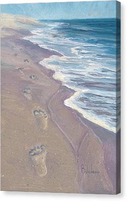 Cape Cod Scenery Canvas Print - A Walk On The Beach by Lucie Bilodeau