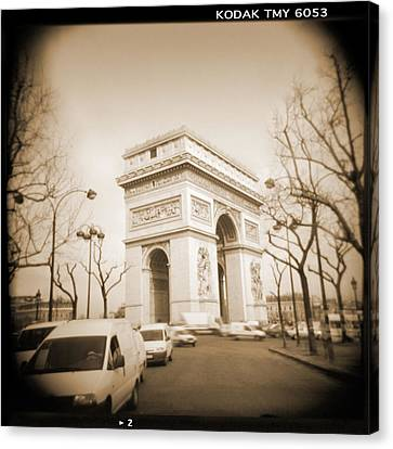 Holga Camera Canvas Print - A Walk Through Paris 2 by Mike McGlothlen