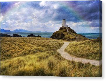 A Walk To The Lighthouse Canvas Print by Ian Mitchell